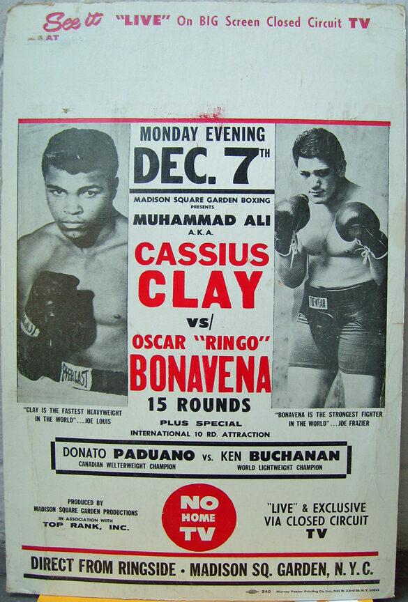 Muhammad Ali aka CASSIUS CLAY VS OSCAR BONAVENA 1970 BOXING