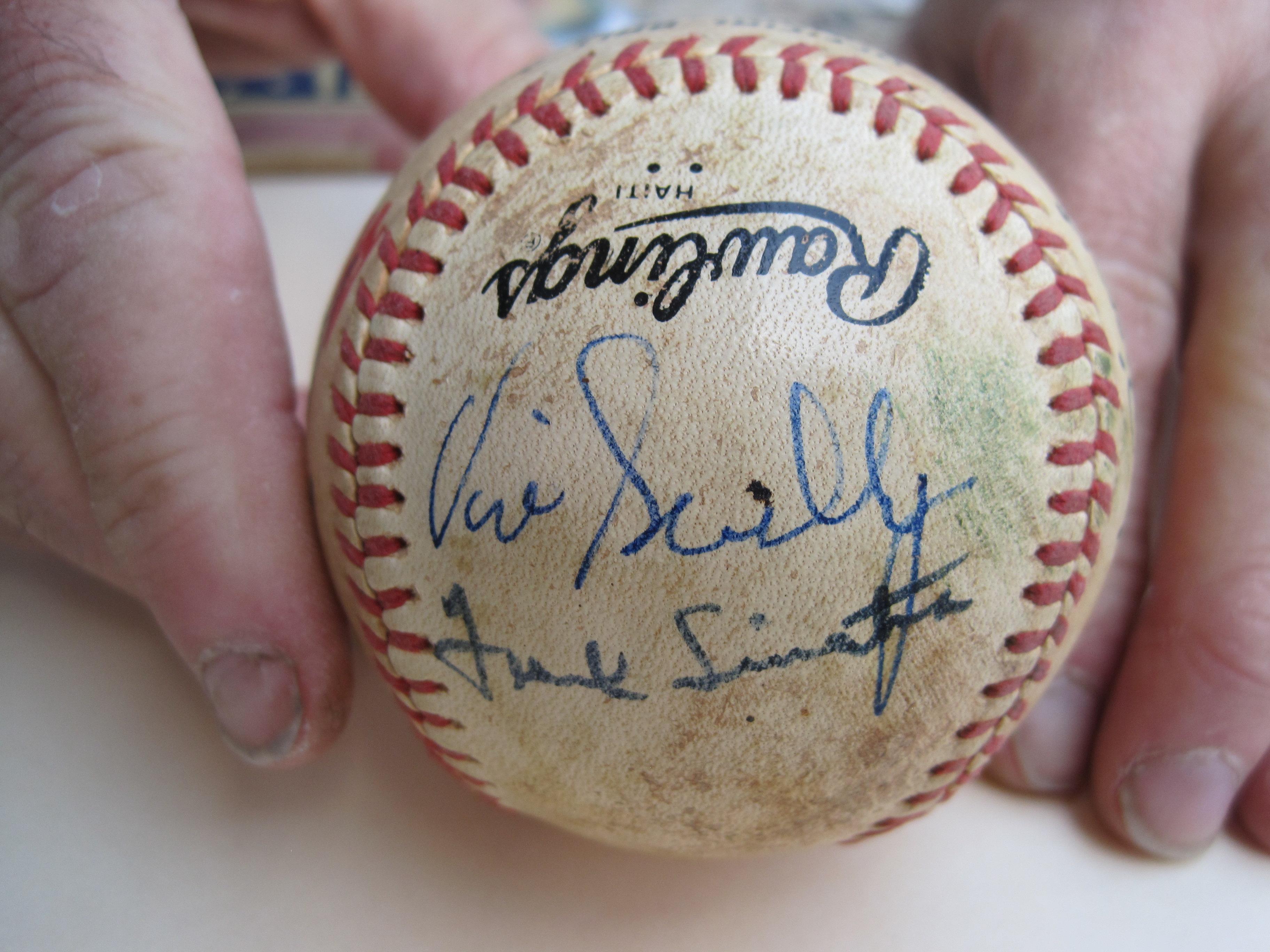 Frank Sinatra signed baseball