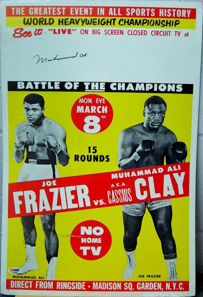 Autographed Muhammad Ali Boxing Poster