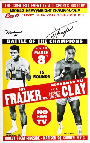 Muhammad Ali vs Joe Frazer_signed by both-no aka