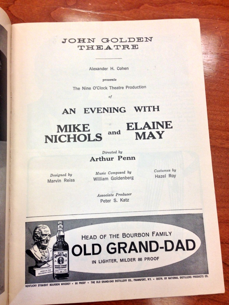 Mike Nichols and Elaine May Playbill