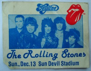 Rolling Stones Backstage Pass