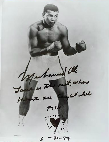 Ali Boxing Signed Photograph