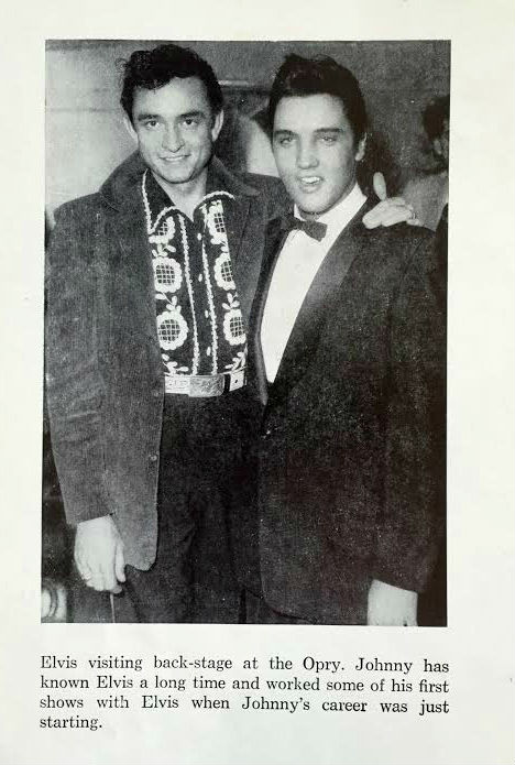 Elvis Presley and Johnny Cash