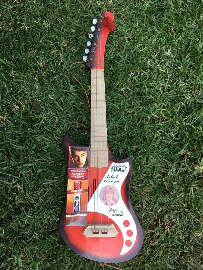 Justin Bieber Tootbrush and David Cassidy Guitar