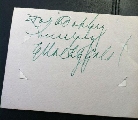 Ella Fitzgerald Autograph