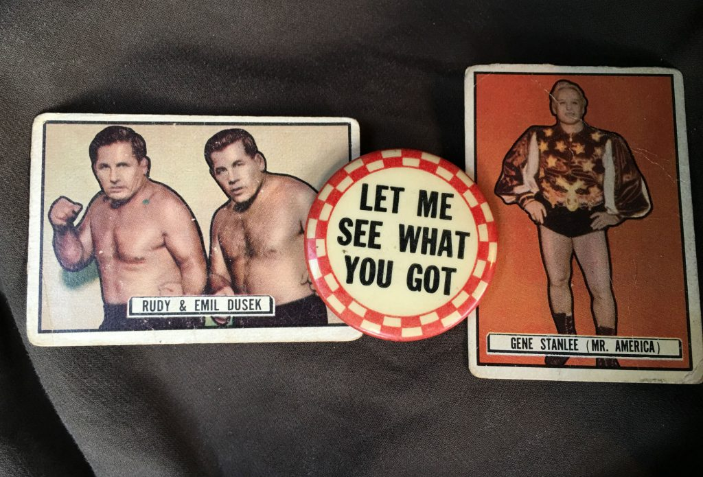 Wrestling Cards and Pinback